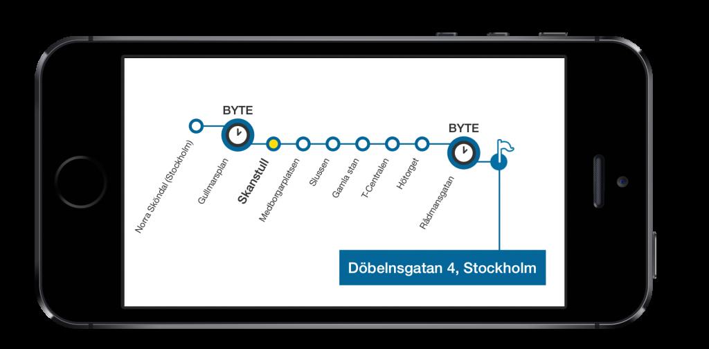 ResLedaren med en karta över stationer
